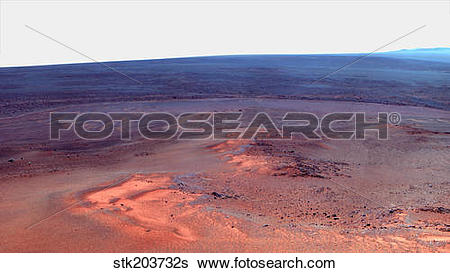 Stock Images of False color mosaic of Greeley Haven on Mars.