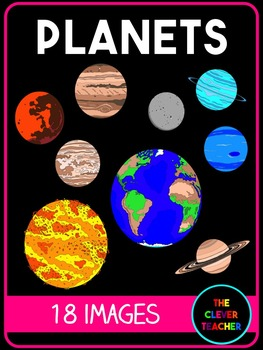 Realistic Planets Clip ArtIncluded are 9 color images of The Sun.