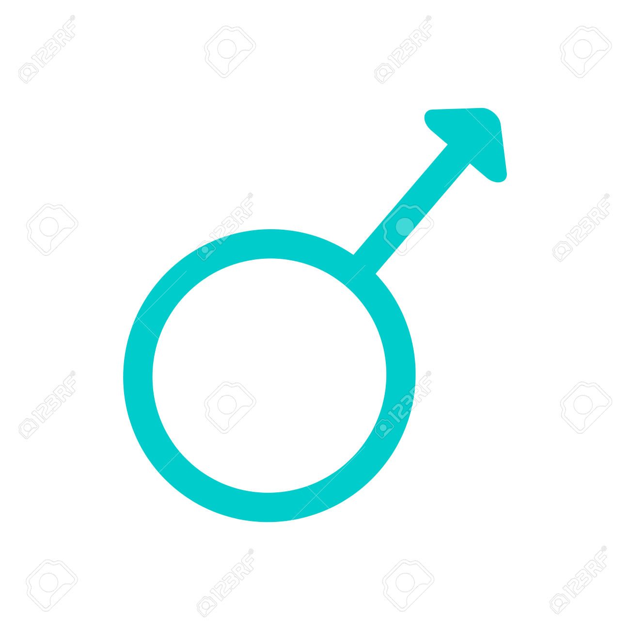 Gender Sign Spear And Shield Of Mars. Male Color Symbol Isolated.