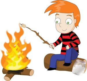 Campfire Marshmallow Clipart.