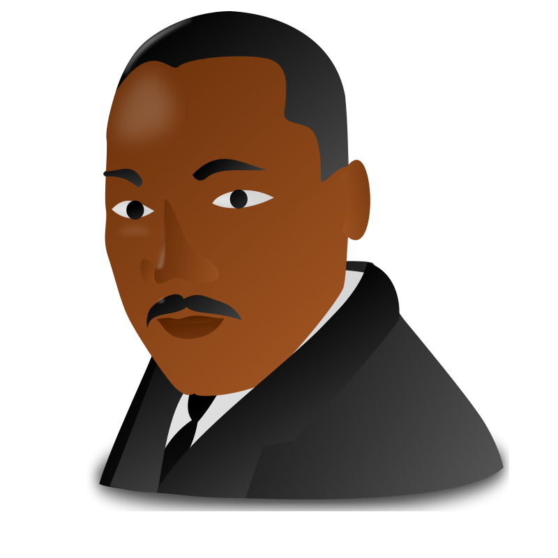 Free Clipart: Martin Luther King Jr. Day Icon.