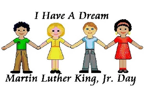 Happy Martin Luther King Day 2015 Clip Art Images.