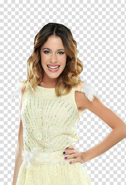 Martina Stoessel Violetta En Vivo transparent background PNG.