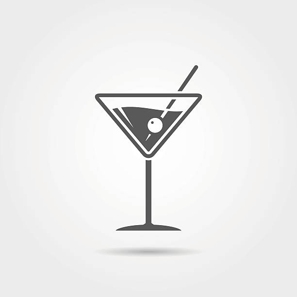 Best Martini Glass Illustrations, Royalty.