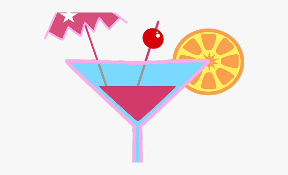 Martini Clipart Woman Drinking Cocktail.