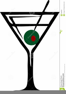 Martini Olive Clipart.