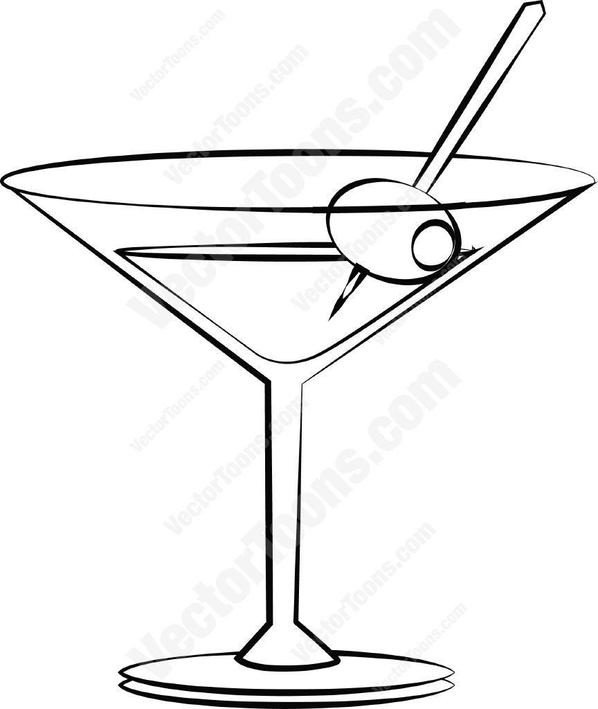 Martini with an olive #alcohol #cocktail #drink #glass #martini.