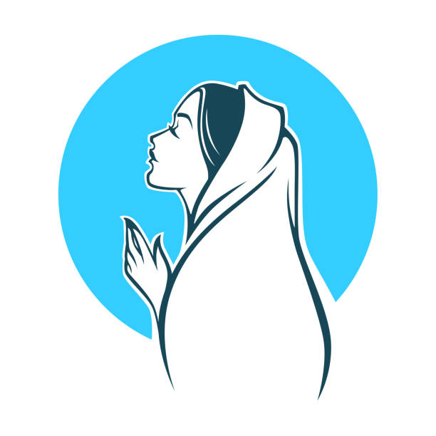 Best Virgin Mary Illustrations, Royalty.