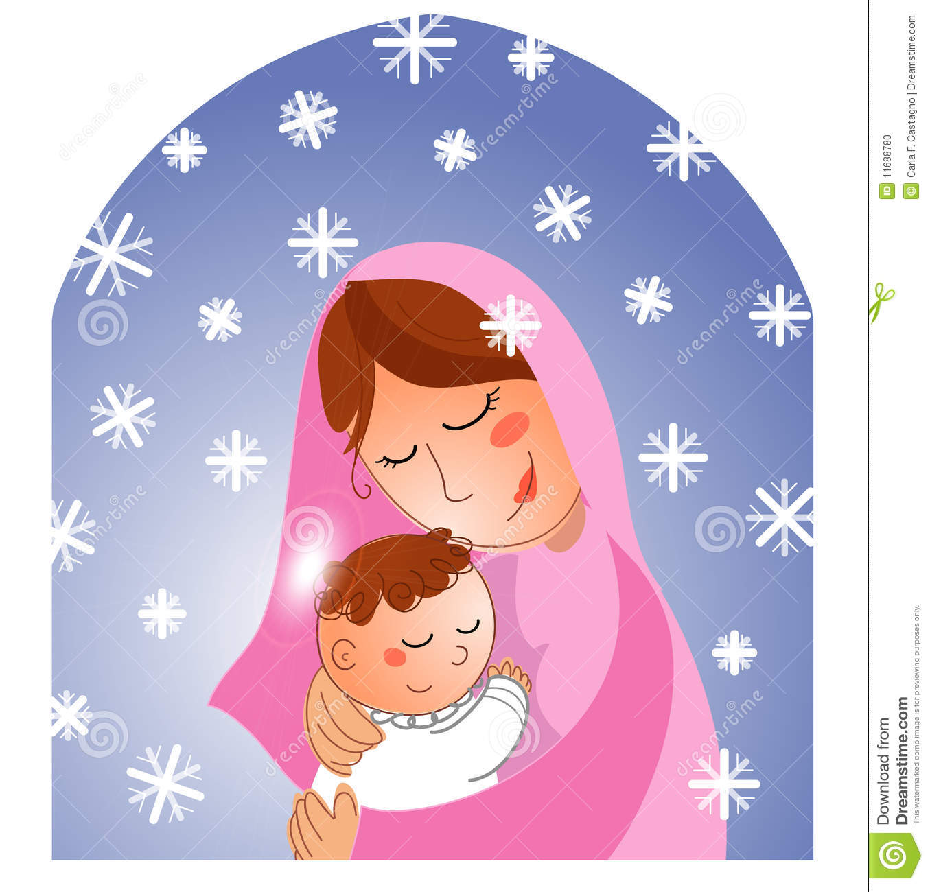 Showing post & media for Cartoon clip art mary and jesus.