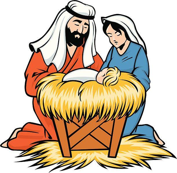 mary joseph and baby Jesus.
