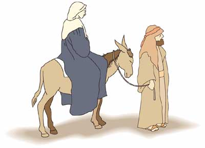 Mary and Joseph's trip to Bethlehem! I tried to find a link to this.