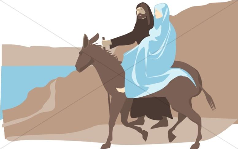 Mary And Joseph To Bethlehem.