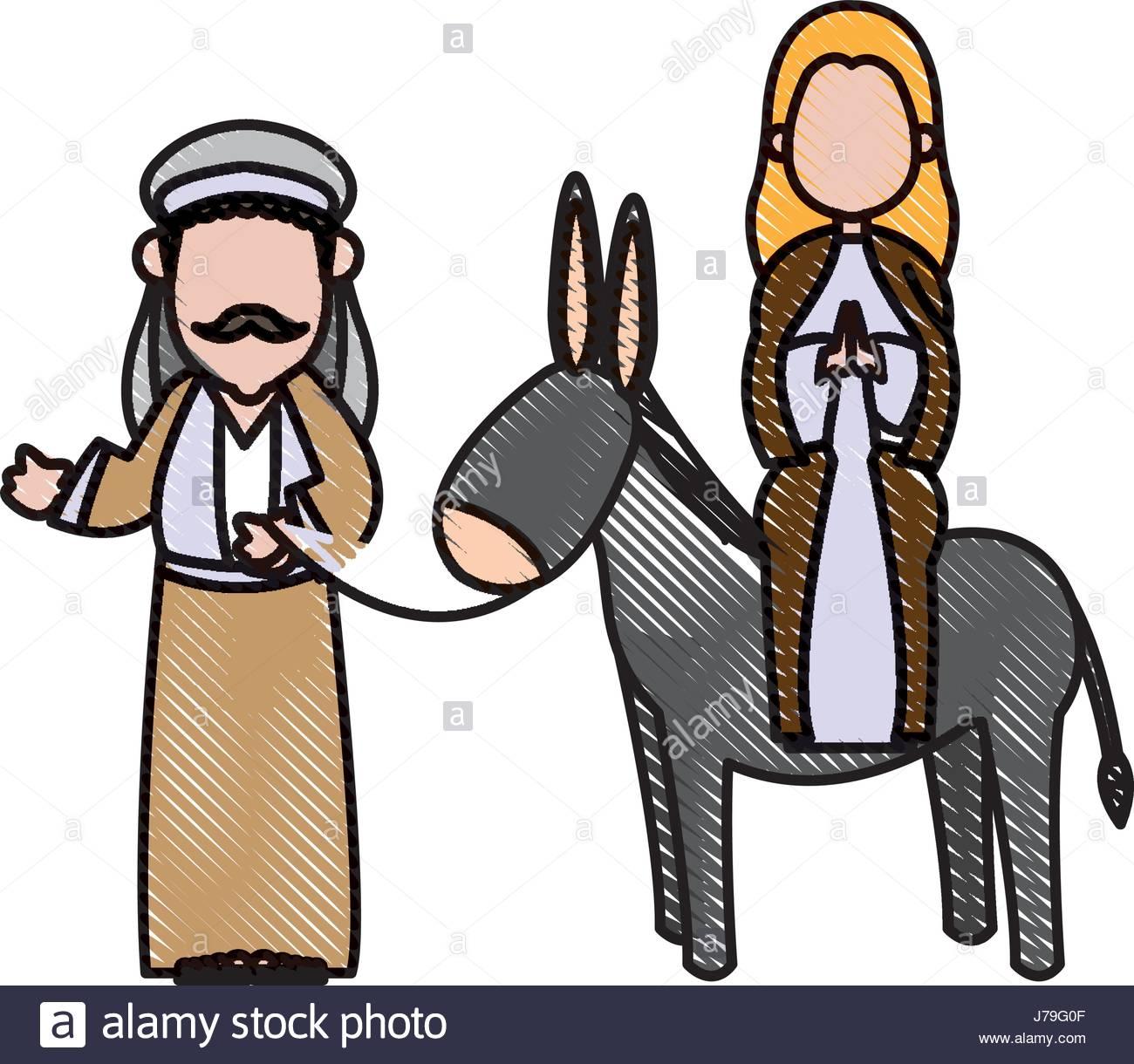 Mary And Joseph And Donkey Stock Photos & Mary And Joseph And Donkey.
