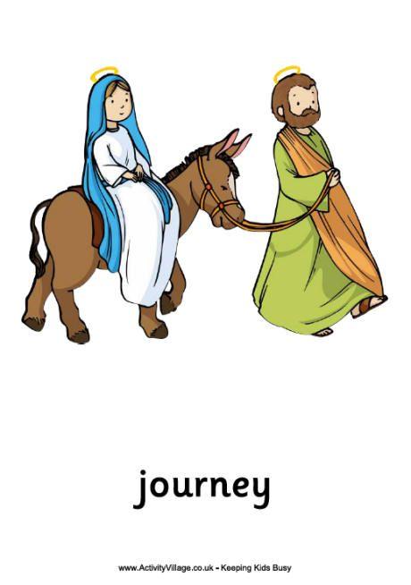printable image of mary on donkey.