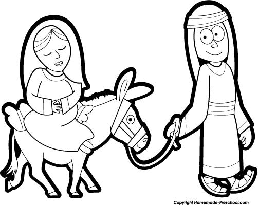 Donkey clipart mary joseph #833.