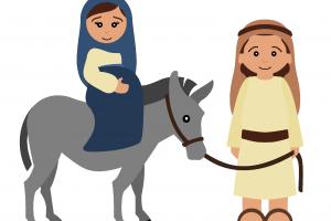 Mary and joseph on a donkey clipart 2 » Clipart Portal.