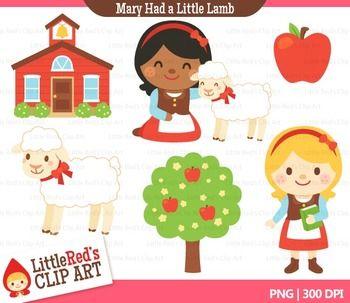 Mary Had a Little Lamb Clip Art.