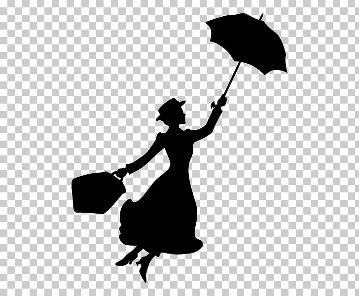 Mary Poppins YouTube Bert Silhouette Stencil, Mary Poppins.