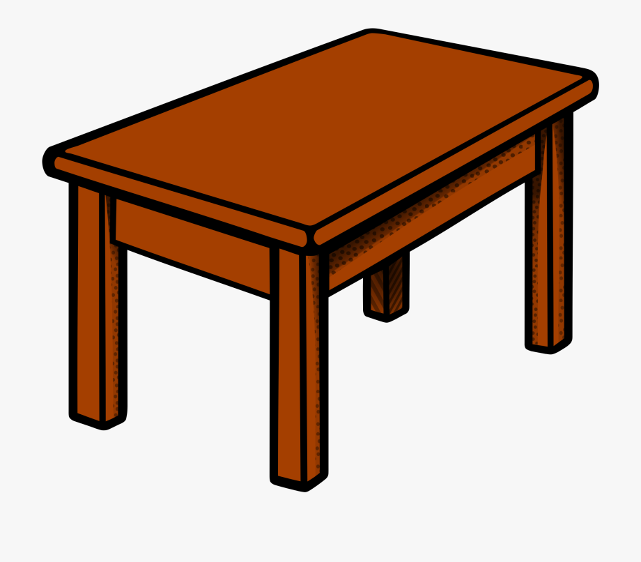 Clipart Table Coloured.