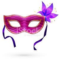 Máscara DE Carnaval Vetor Violeta Com Flor imagens vetoriais.