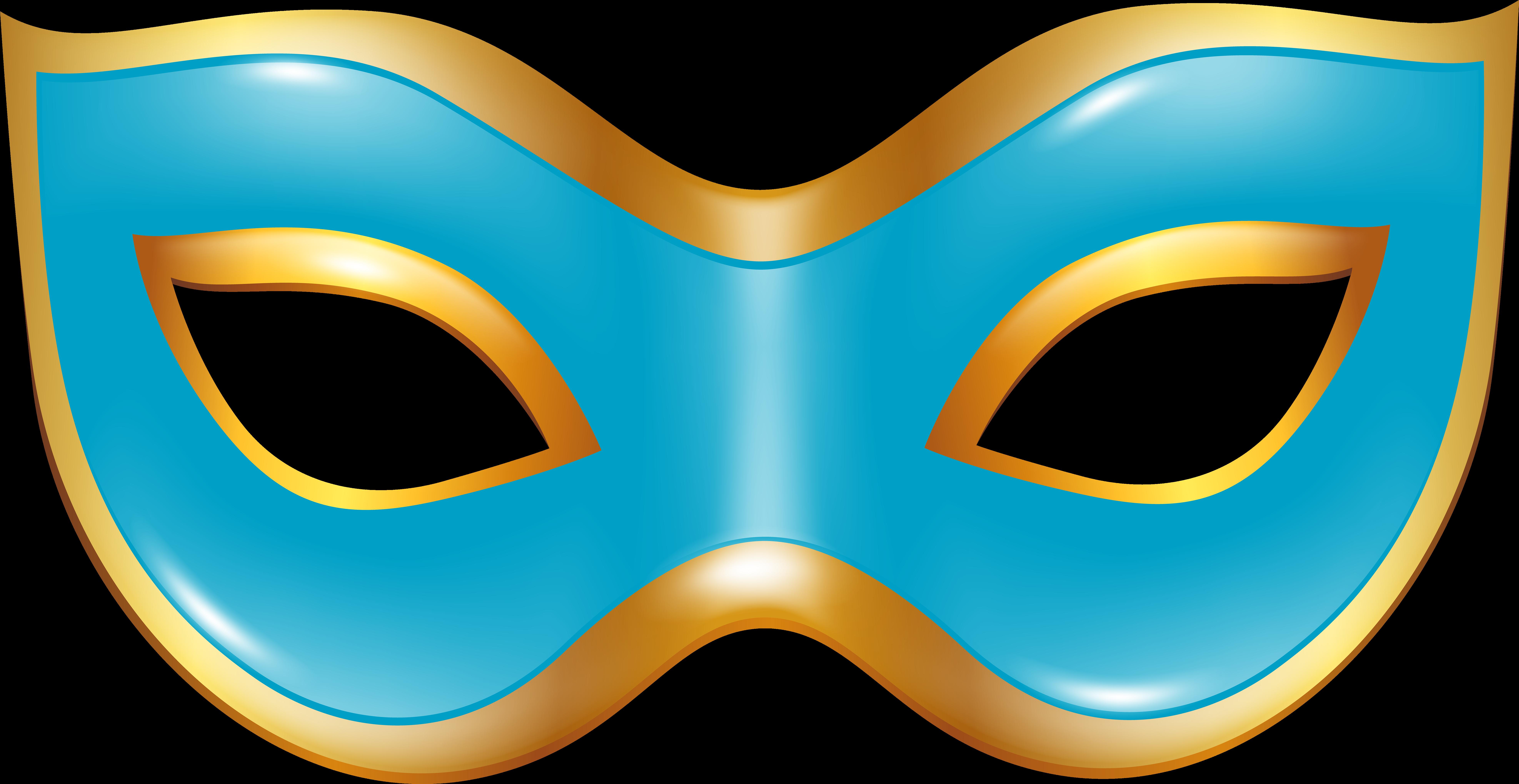 Máscara Carnaval Azul Clipart.