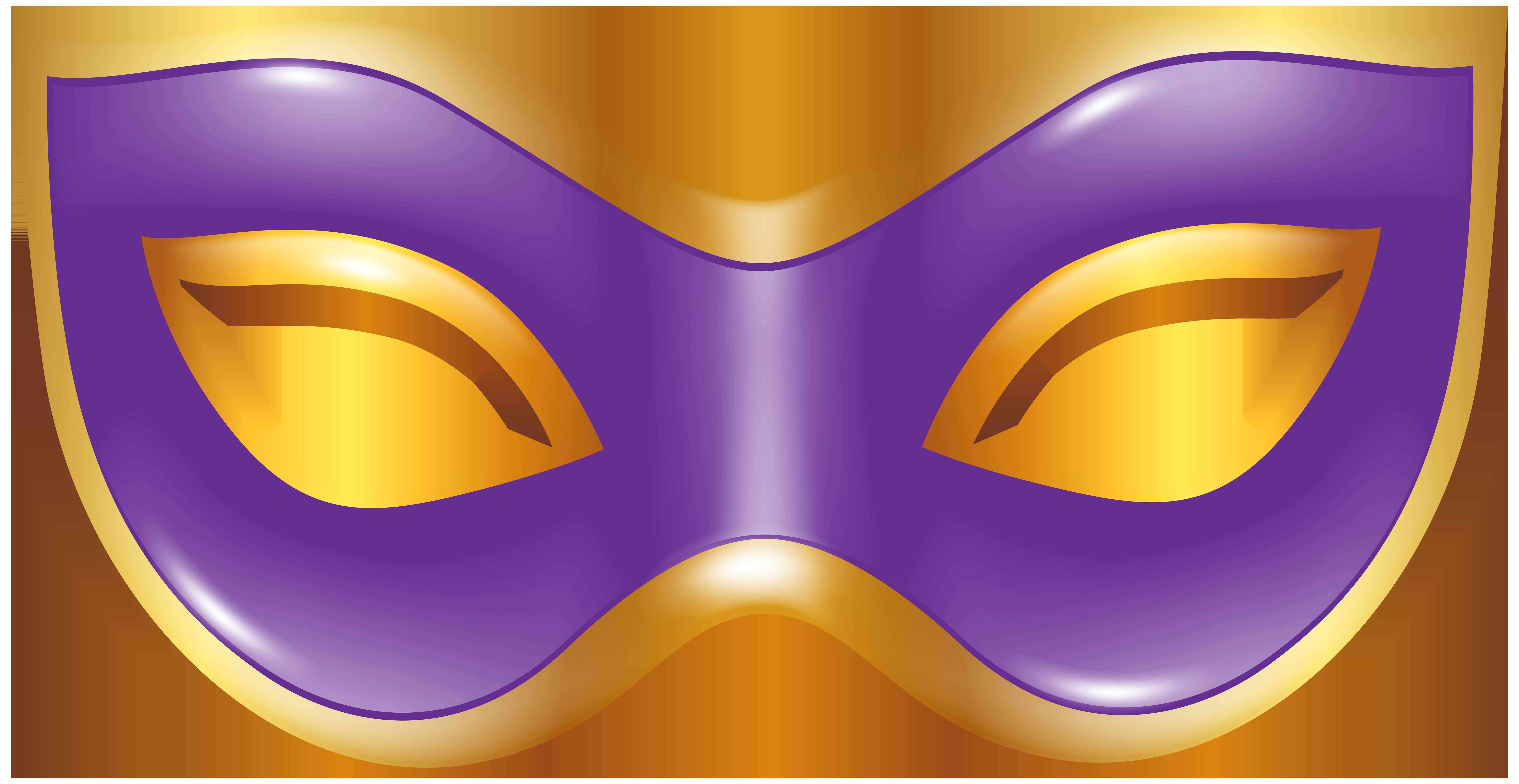 Carnival Mask Purple Transparent PNG Clip Art Image.