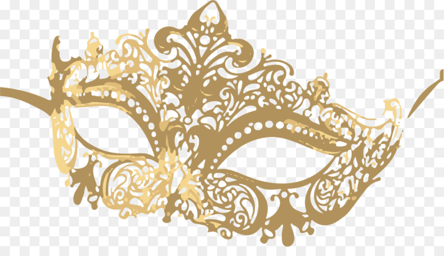 Gold Masquerade Mask Clipart.