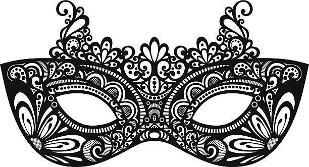 Masquerade Mask Clipart Black And White.