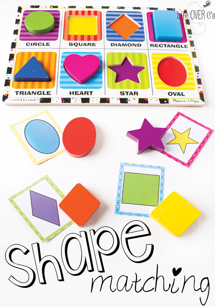 Puzzle & Shape Matching Cards.