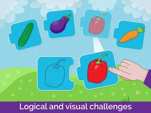 Learning Shapes, colors, Matching Puzzles Game for kindergarten.