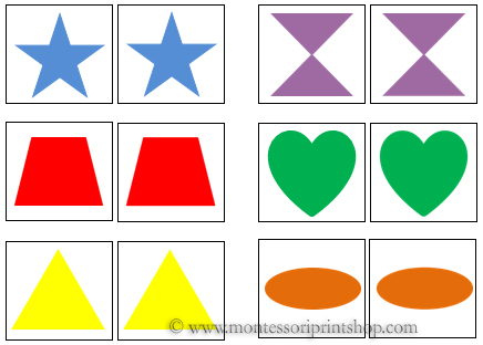 Shape and Color Sorting Cards.