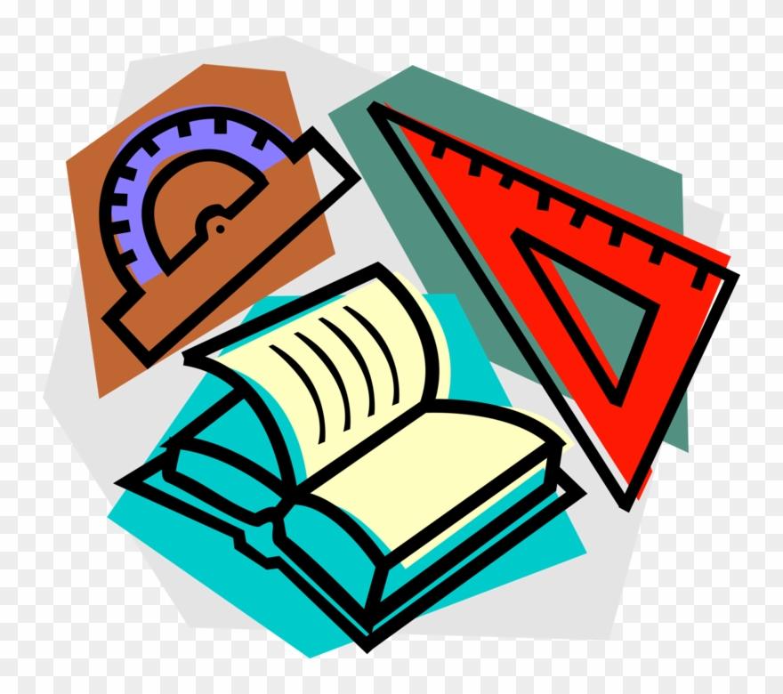 Vector Illustration Of School Mathematics Study In.