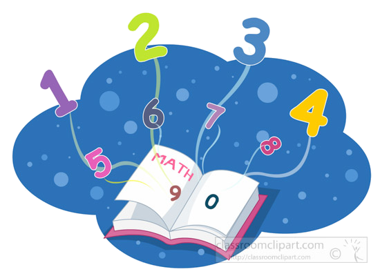 Numbers Mathematics Clipart Math Book And Flying Transparent Png.
