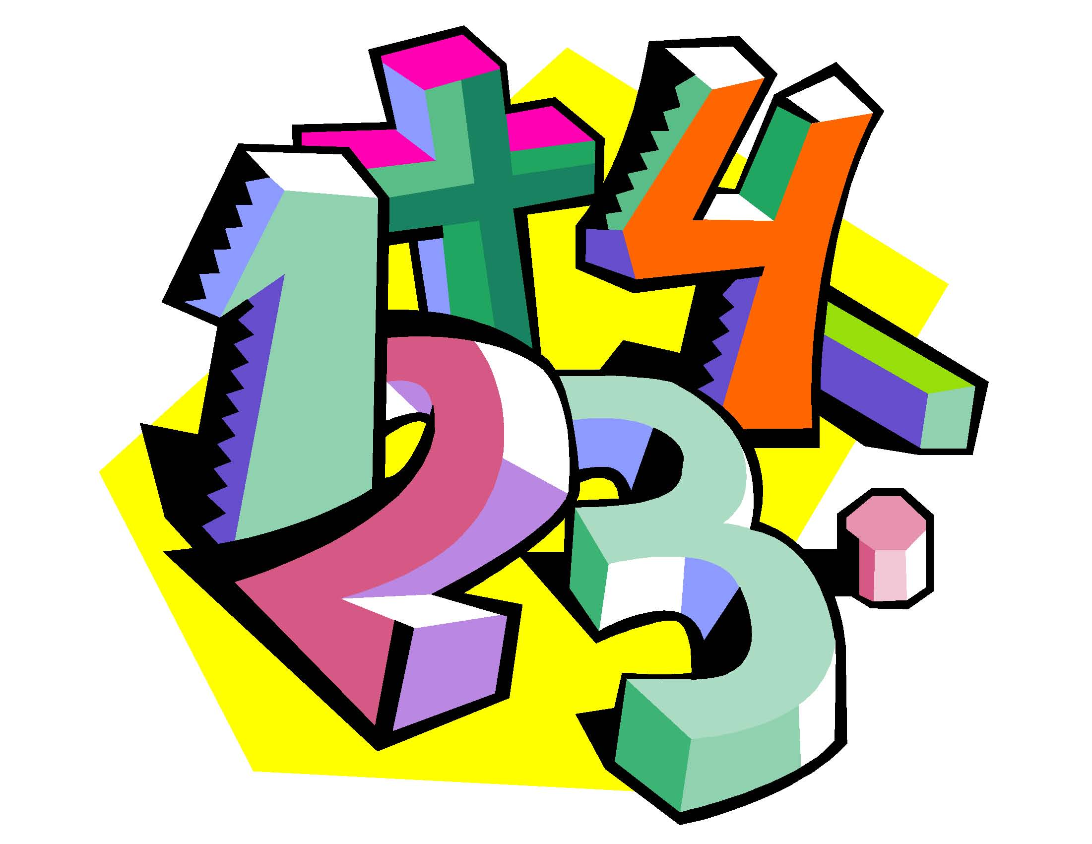 Kids : Math Numbers Clipart Clipartfest.