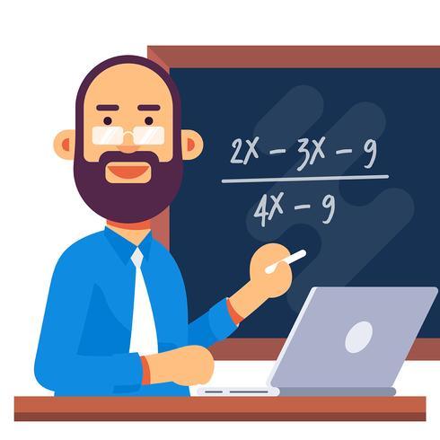 Math Teacher Illustration.