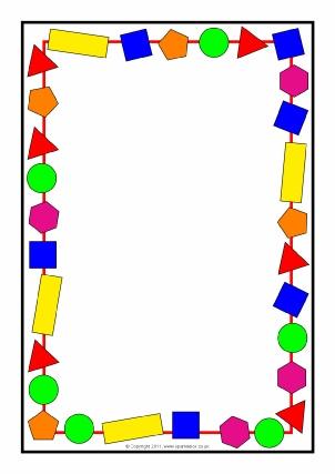 Printable Maths Page Borders.