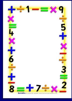 Math Clipart Border.