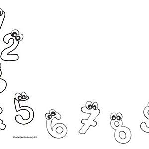 clipart mathematics borders - Clipground Number Border Black And White
