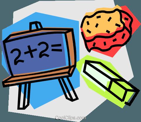 school project, mathematics Royalty Free Vector Clip Art.