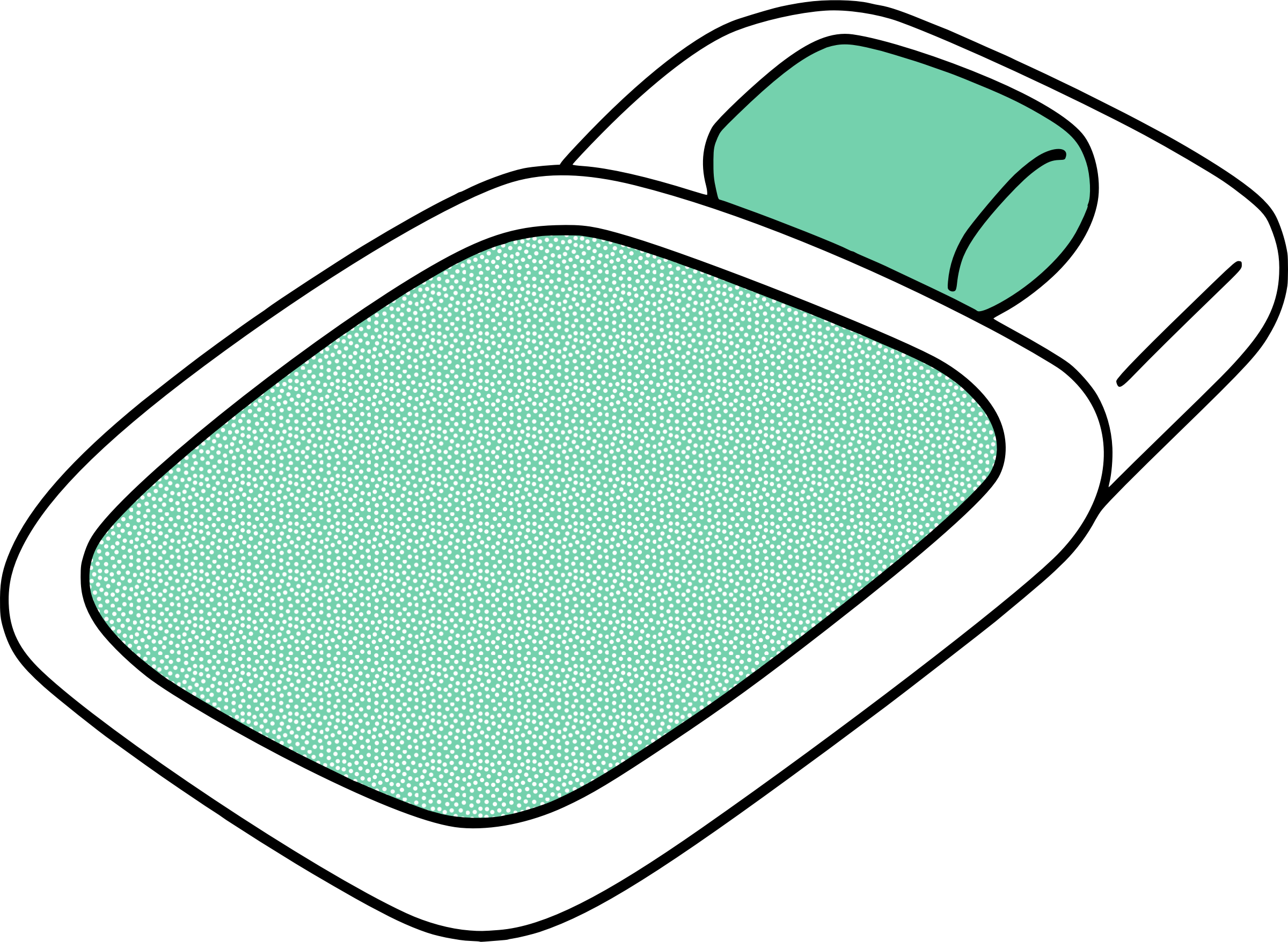 Futon Bed vector clipart image.