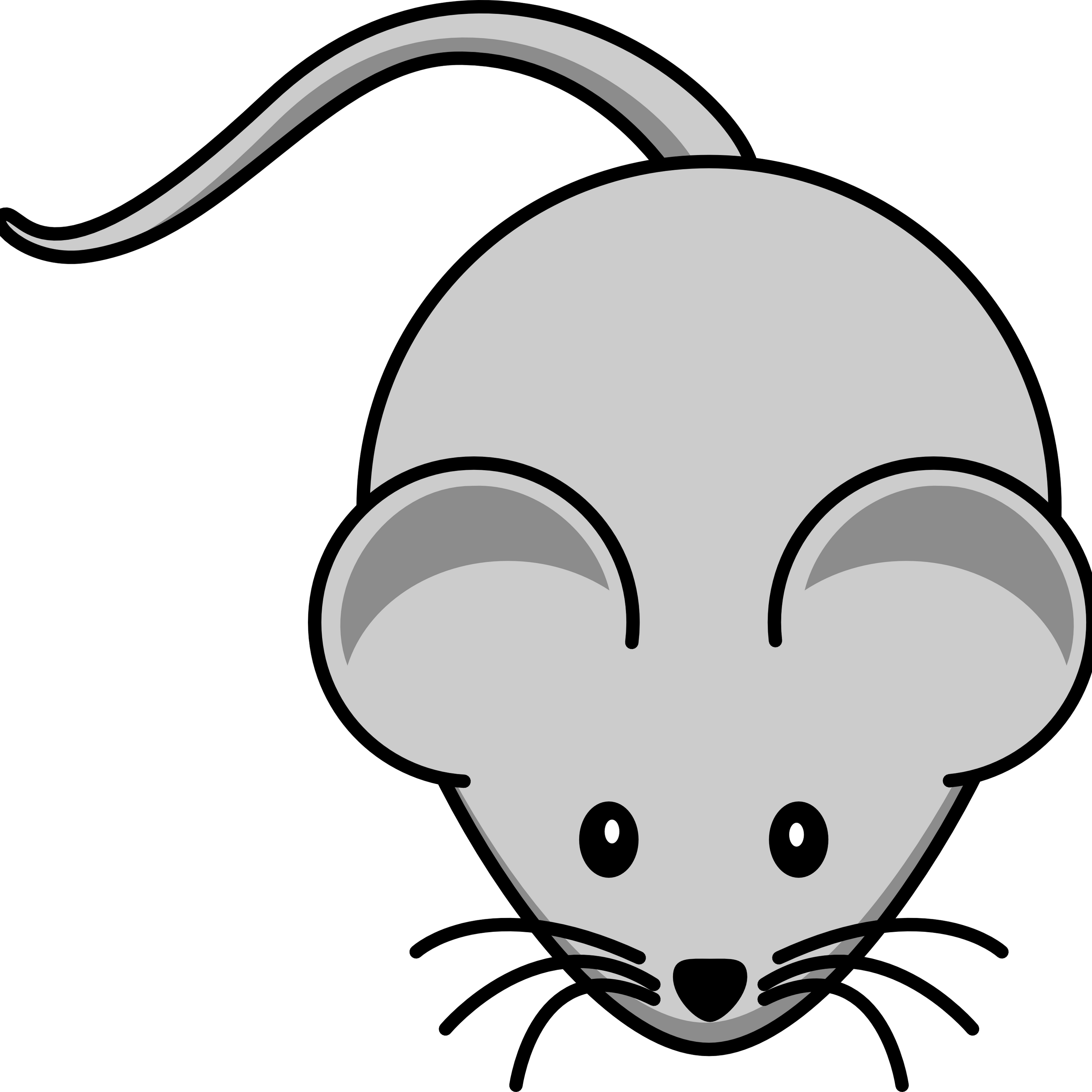 Mouse Clipart transparent PNG.