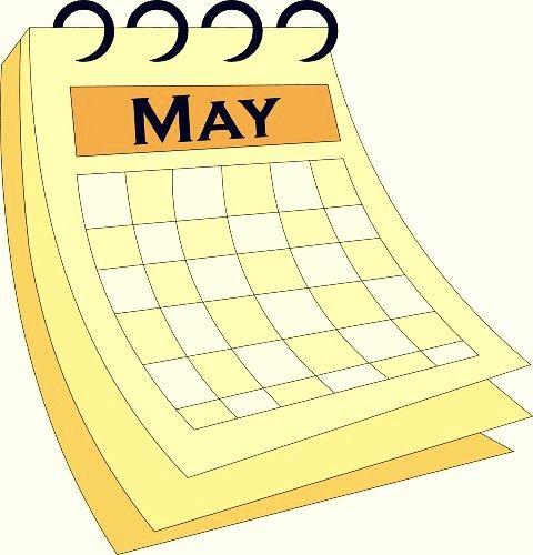 Download High Quality may clip art calendar Transparent PNG.