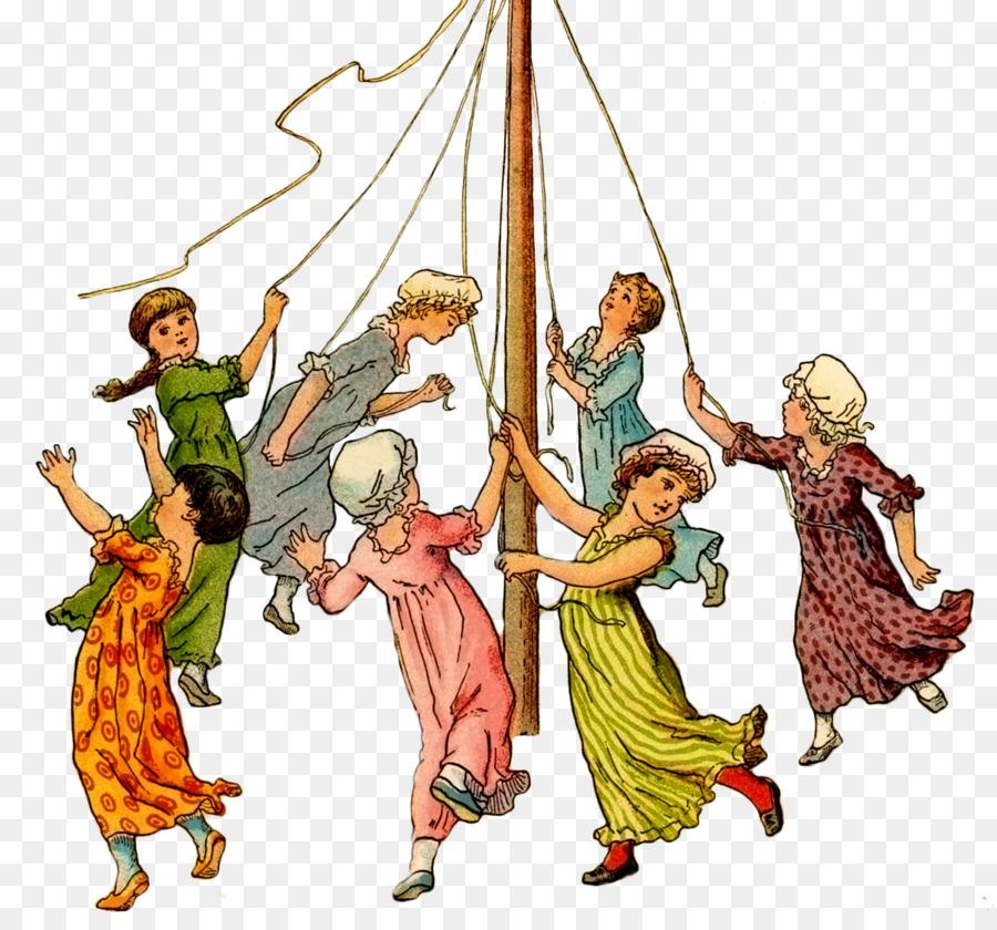 May clipart maypole dance, May maypole dance Transparent.