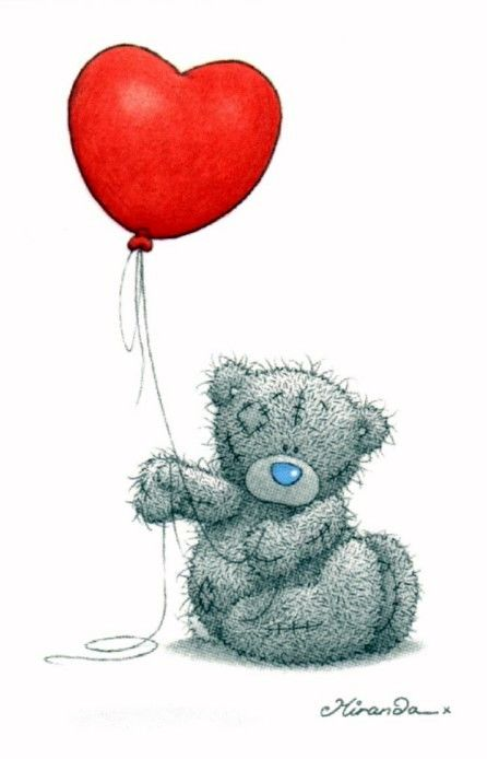 Me to you Bear with a Heart Balloon.