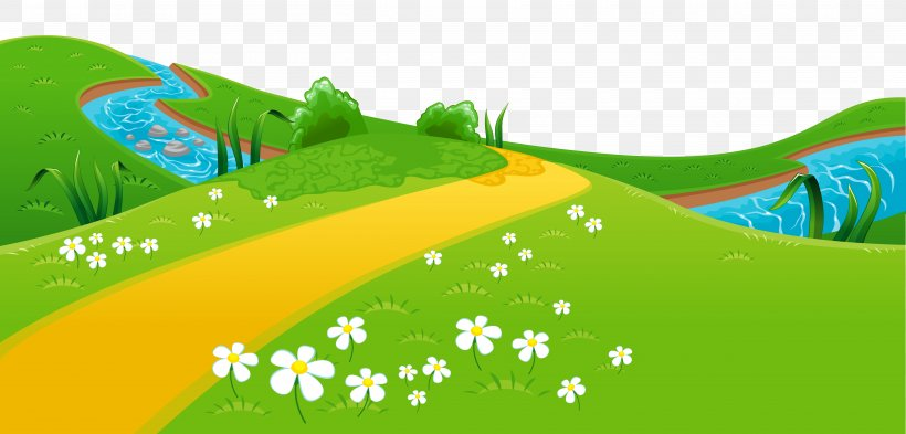 Meadow Clip Art, PNG, 5000x2398px, Cartoon, Document, Garden.