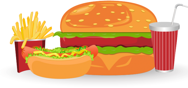 Meal Clipart Burger Meal.