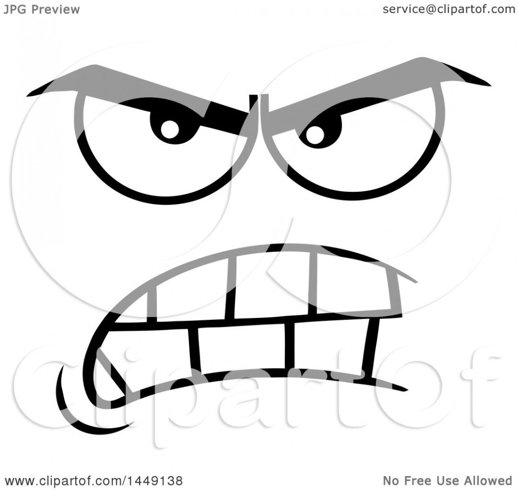 Mean face clipart 4 » Clipart Station.
