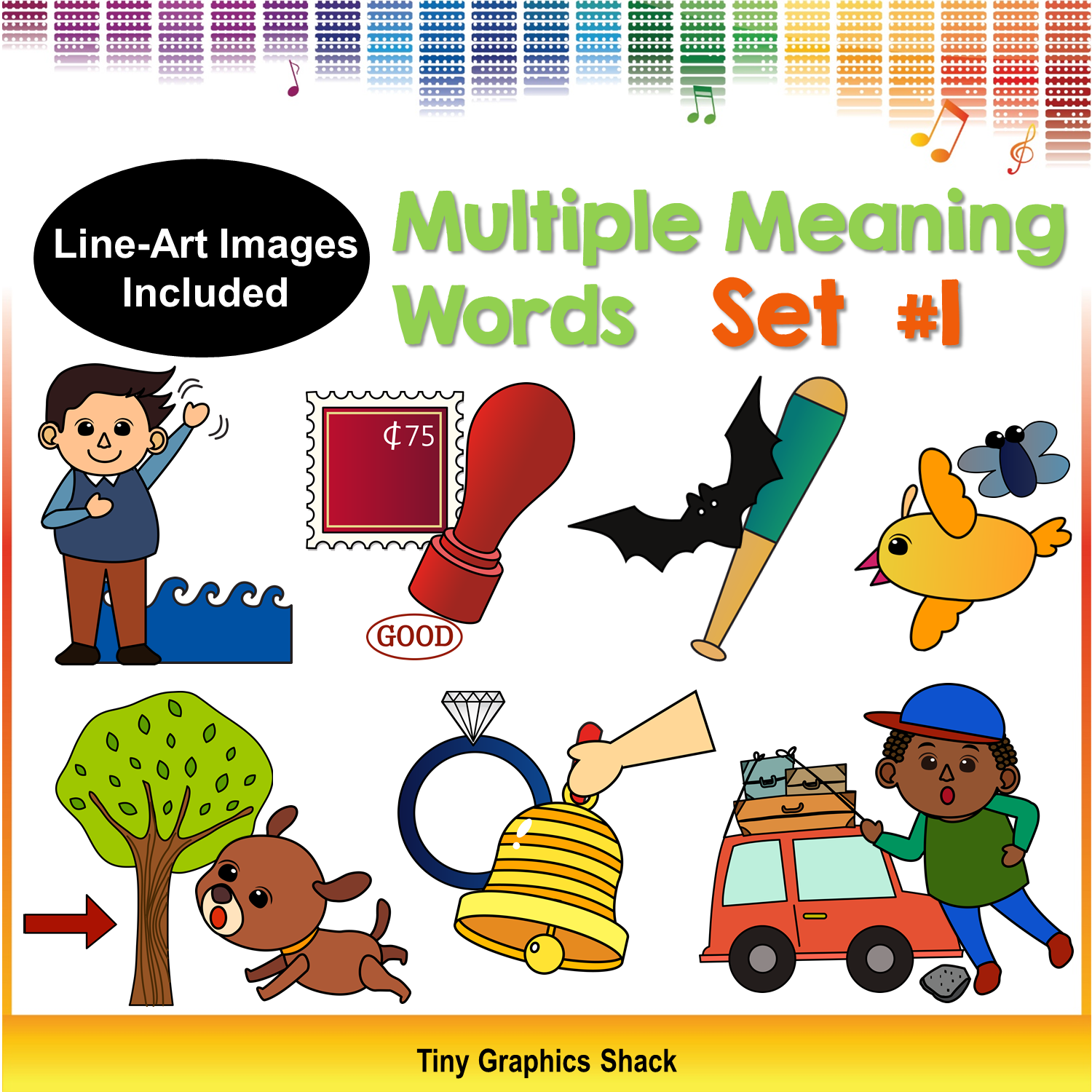 Multiple Meaning Words Clipart Set #1 (Homonyms).