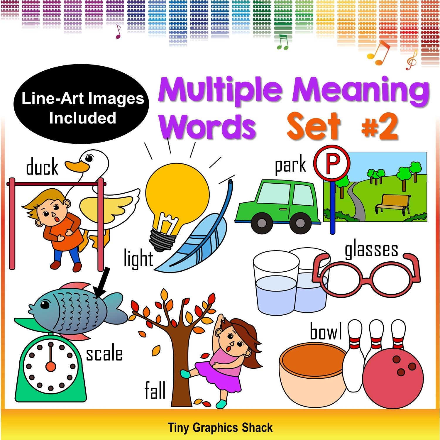 Multiple Meaning Words Clipart Set #2 (Homonyms).