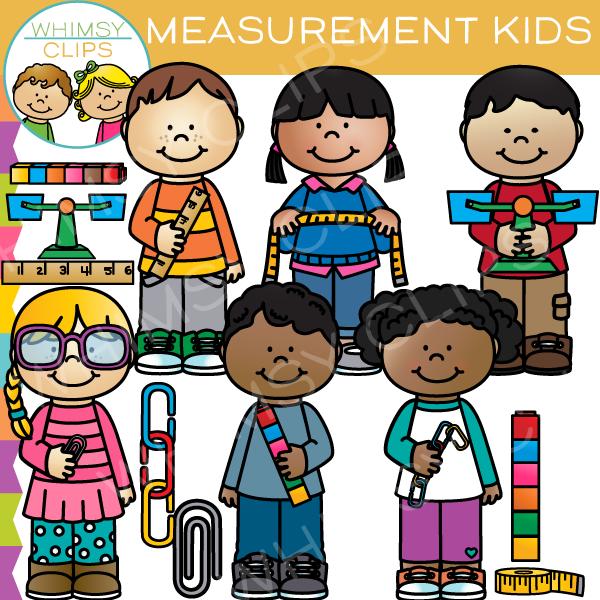 Measurement Kids Clip Art.